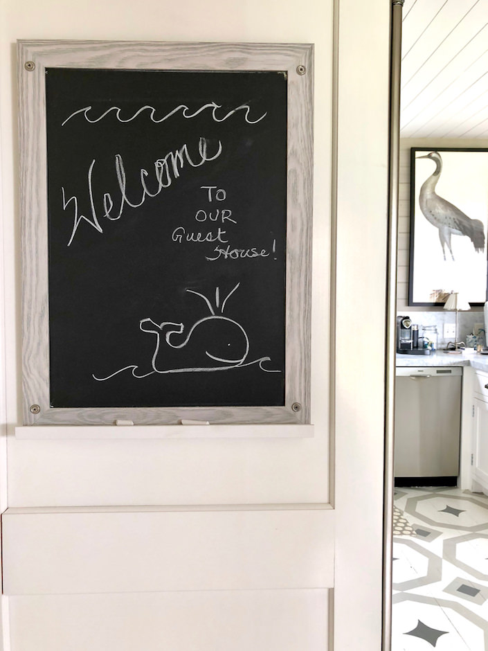Nantucket guest house welcome