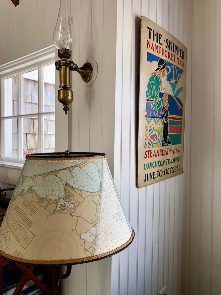 Nantucket map lampshade