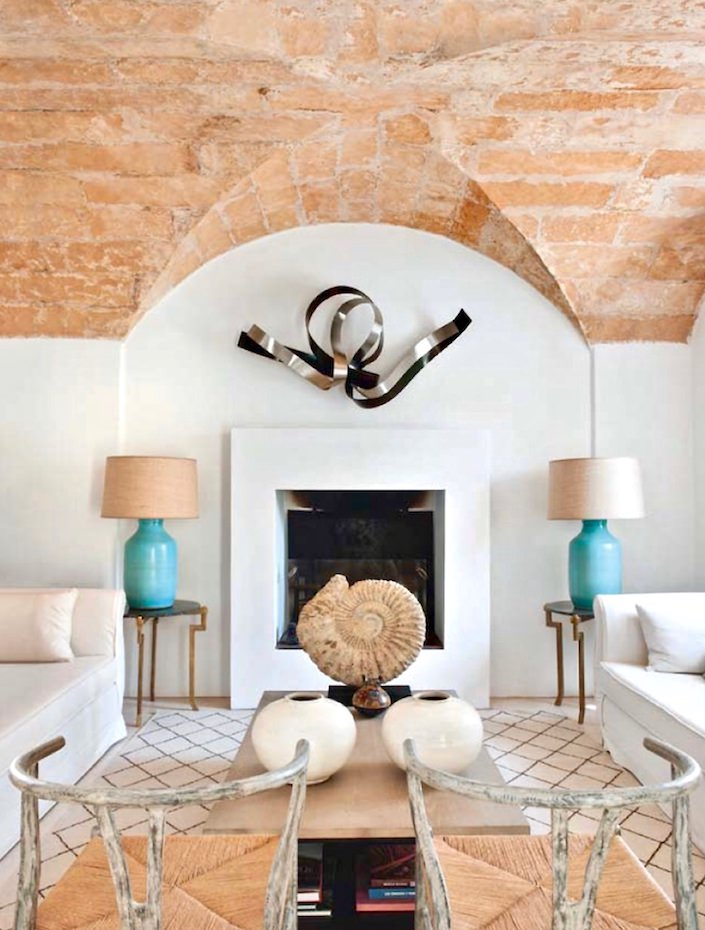 Sitting room at house on Mallorca, designed by Ramón García Jurado, photo by Montse Garriga Grau for House & Garden UK