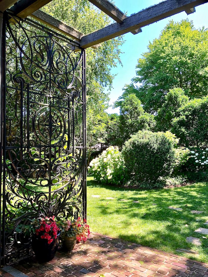 garden gate at Greater Light