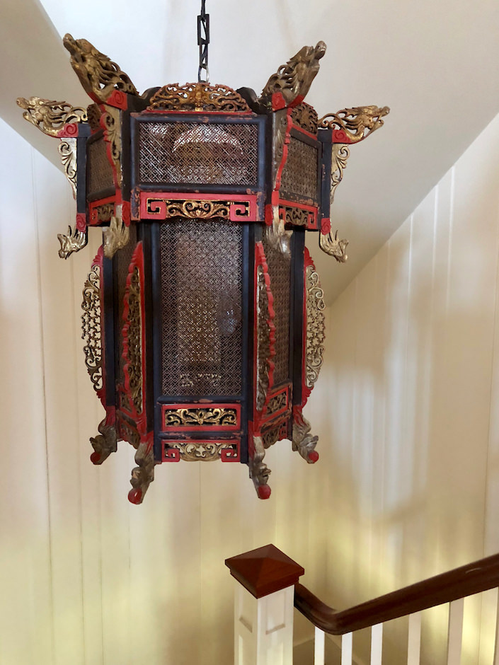 Jaingsu Chinese lantern in a Nantucket house