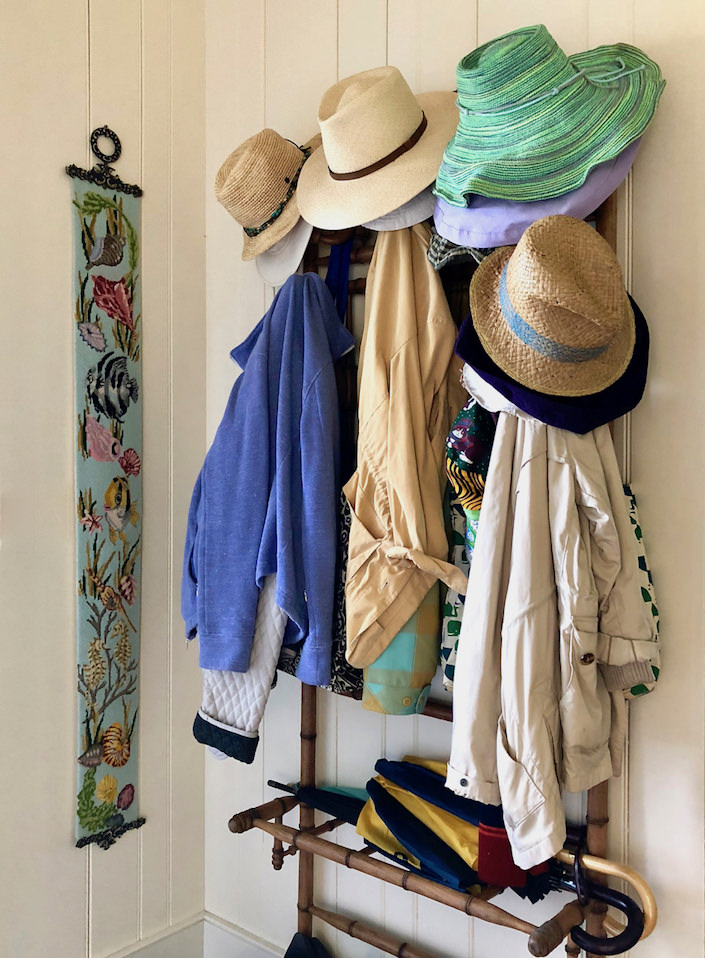 Nantucket entry, hippie shack chic
