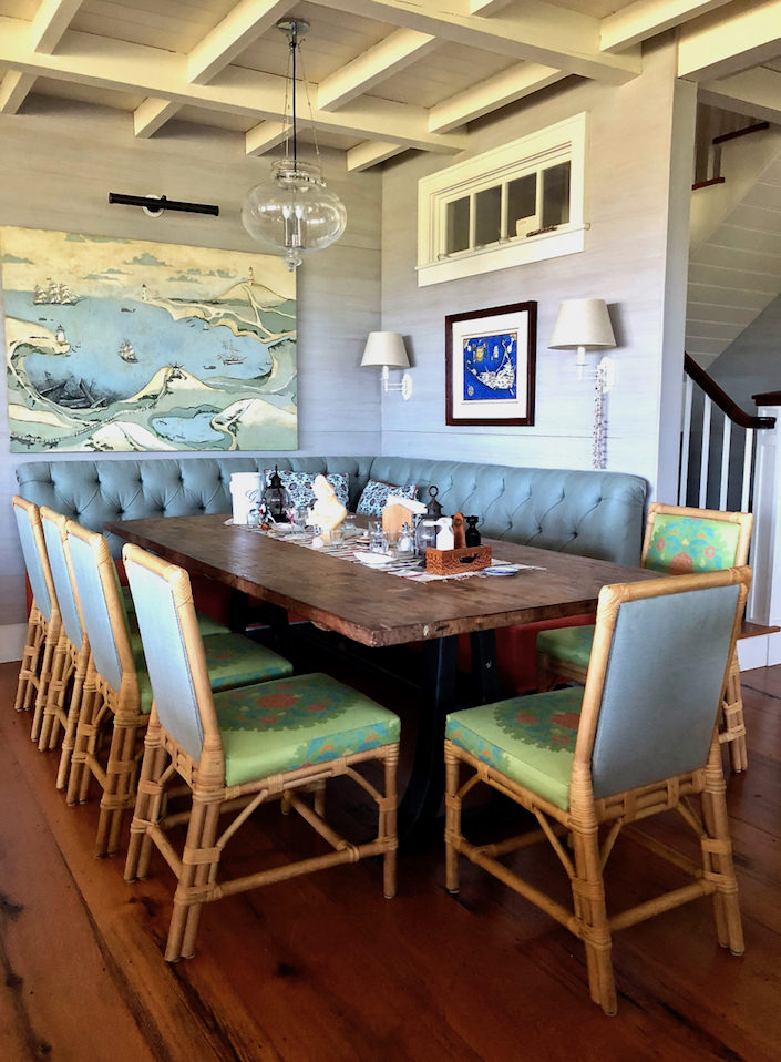 Nantucket house tour dining area