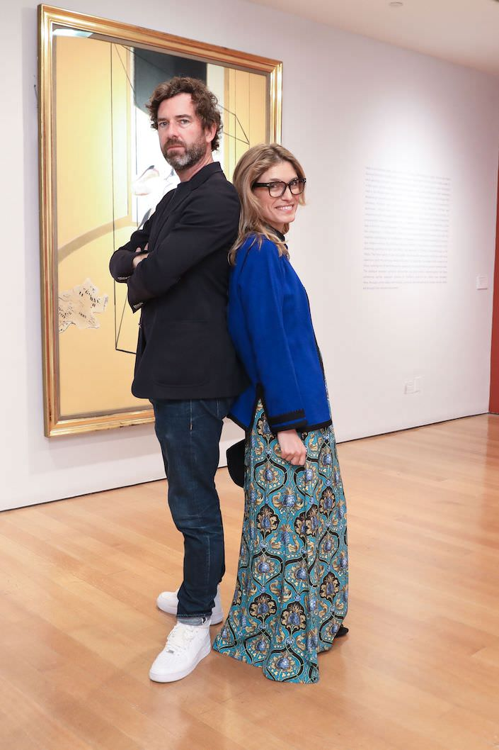 David Netto and Martina Mondadori Sartogo at Christie's, photo Samantha Nandez:BFA