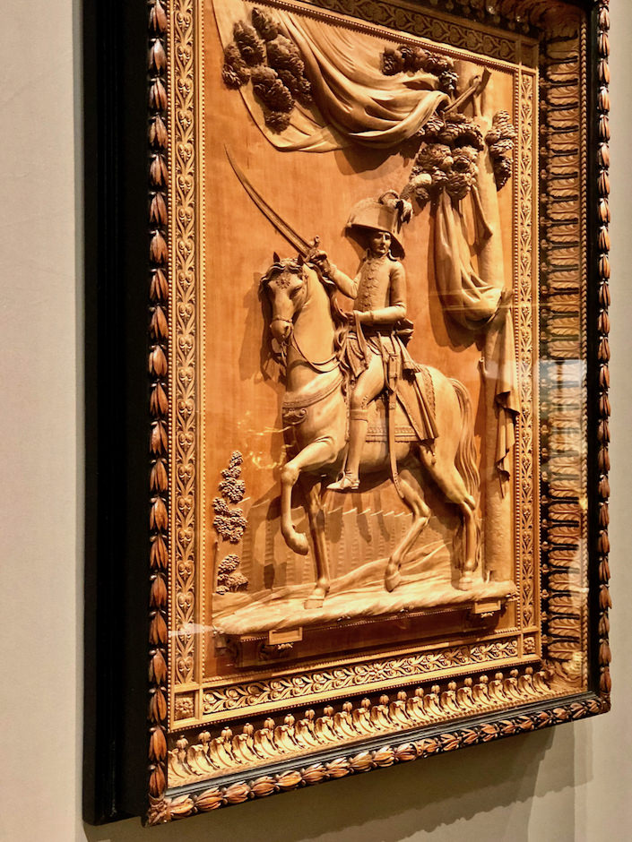Galerie Kugel wood bas relief carving at TEFAF New York Fall 2018