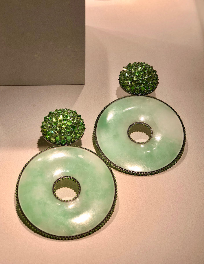 Hemmerle earrings at TEFAf New York Fall 2018