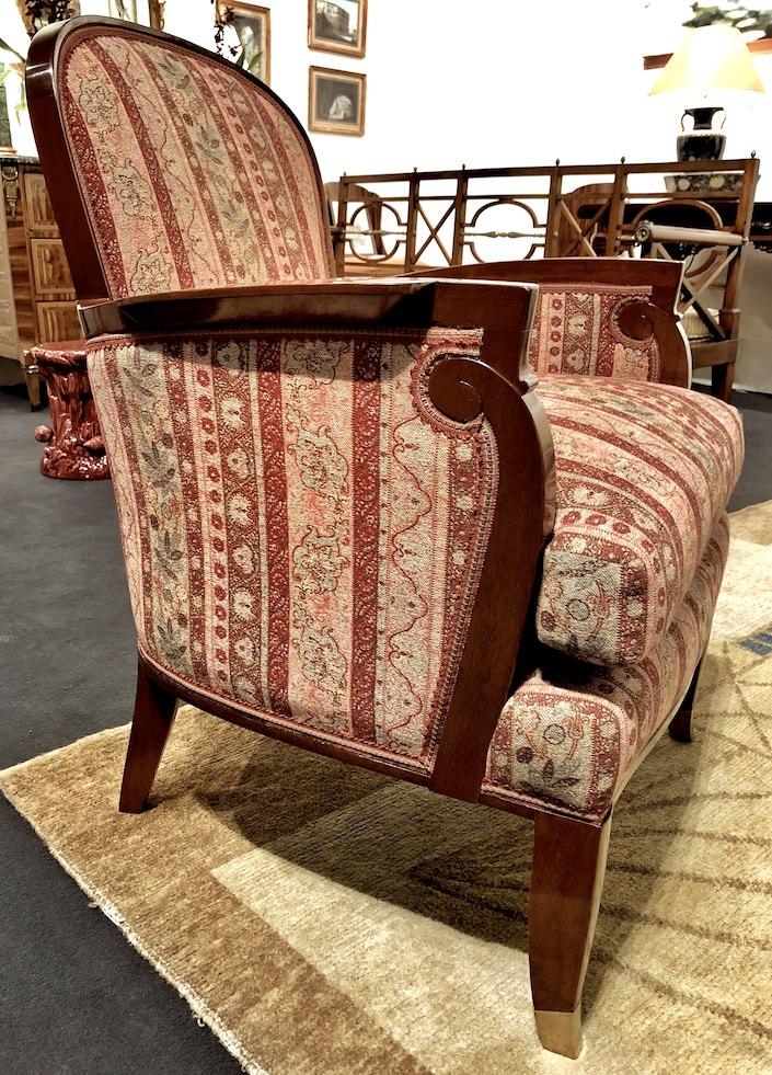 Jules Leleu armchair at James Sansum at San Francisco Antiques Show