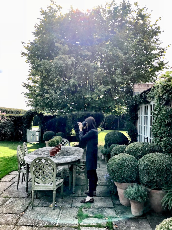 Stacey Bewkes of Quintessence shooting Paolo Moschino country house