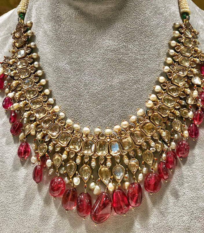 Sue Ollemans Oriental Works of Art 19th c. Jaipur necklace at the San Francisco Antiques Show
