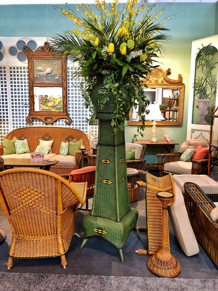 Wicker planters at Antique AmericanWicker