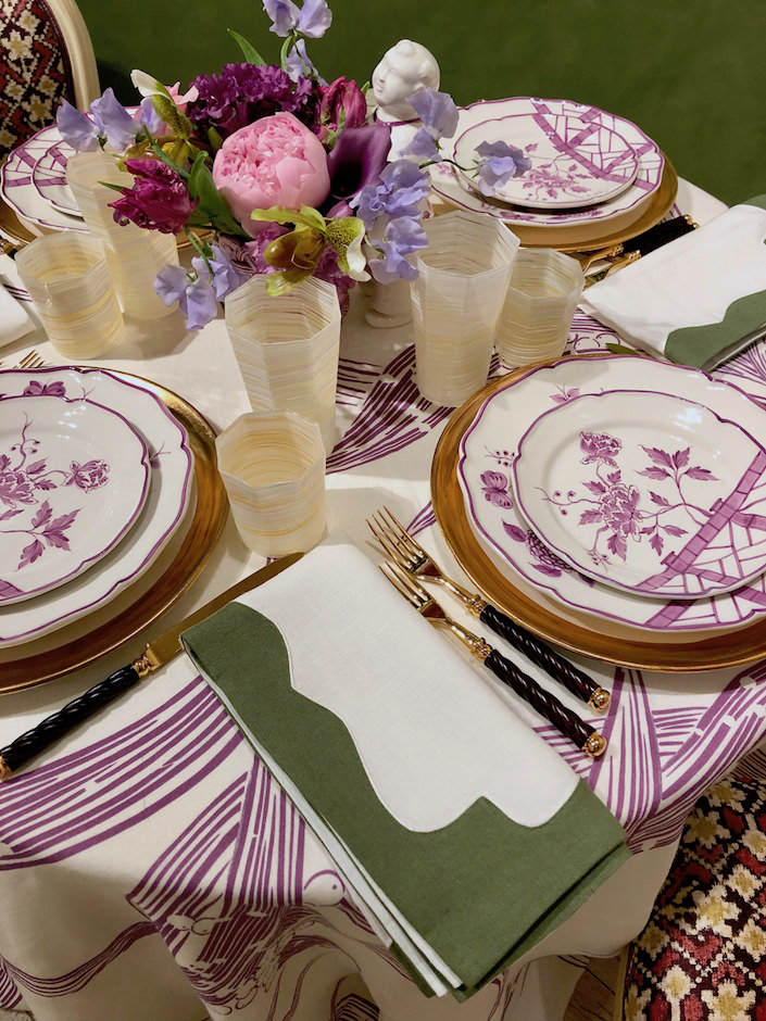 Alex Papachristidis napkins for Moda Operandi