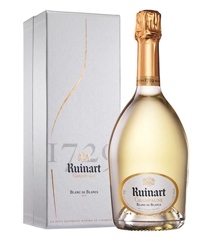 Ruinart blanc de blanc via Quintessential Guide to champagne 2018
