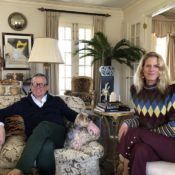 Susanna Salk in the Hamptons with Alex Papachristidis