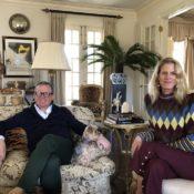 Susanna Salk in the Hamptons with Alex Papachristidis