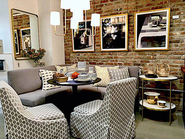 dining area at One Kings Lane Soho Store