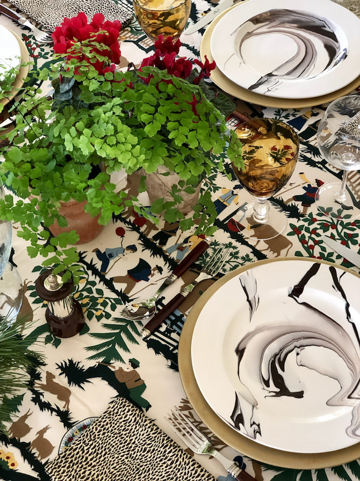 my Christmas table via Quintessence blog