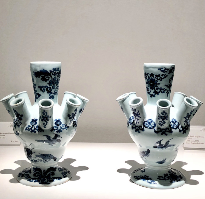 Aronson Delft tulipieres at The Winter Show