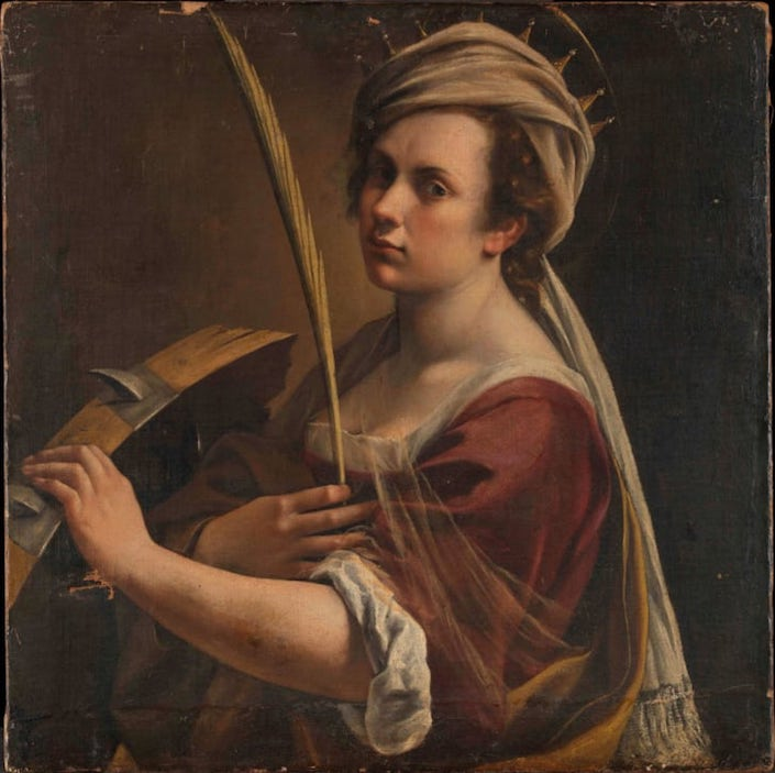 Artemesia Gentileschi self portrait as Saint Catherine at Sotheby's