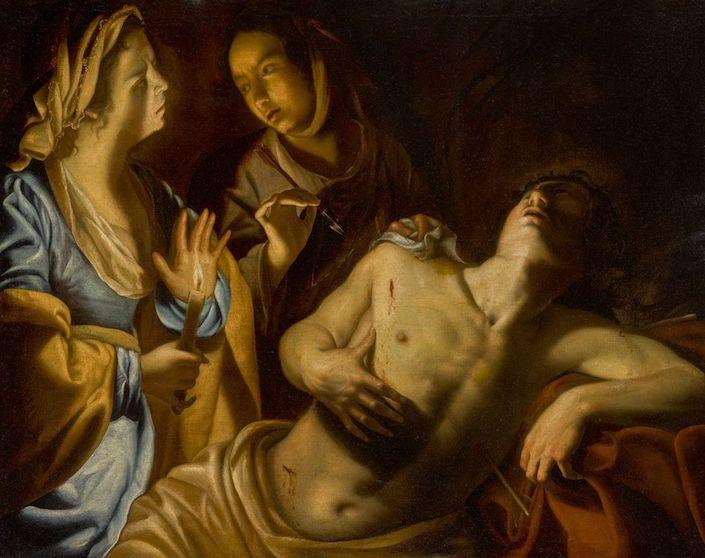 Artemisia Gentileschi Saint Sebastian Tended by Irene