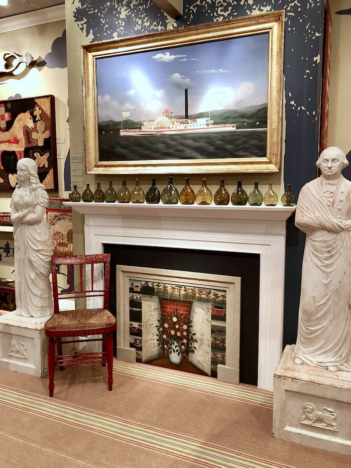 Olde Hope Antiques booth at The Winter Show
