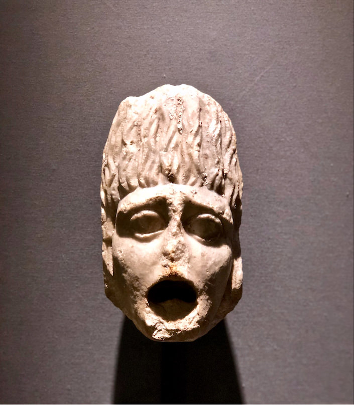 Roman marble mask from Charles Ede gallery at The Winter Show