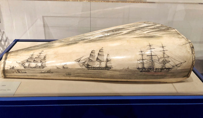 Scrimshaw at NHA loan exhibit at the Winter Show 2019