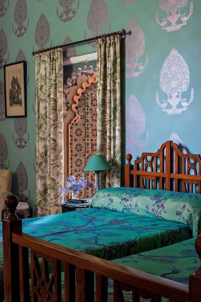 Udai Bilas Palace at Dungarpur with Osborne & Little wallpaper by Henry Wilson