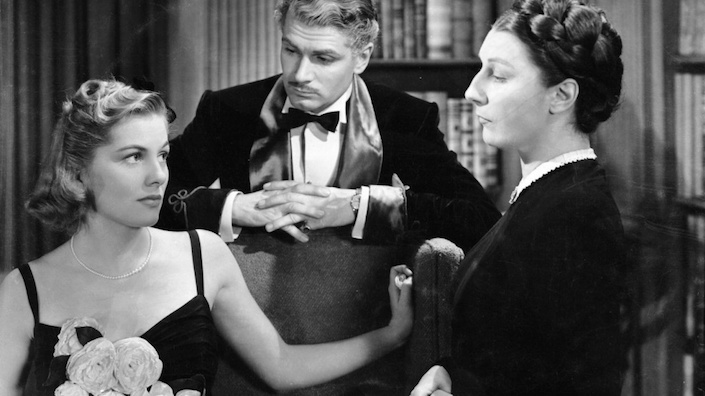 Joan Fontaine, Laurence Olivier and Judith Anderson in Rebecca