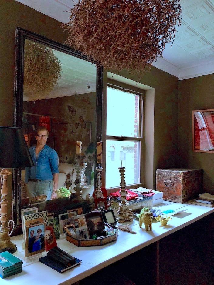 John Derian in his East Village bedroom