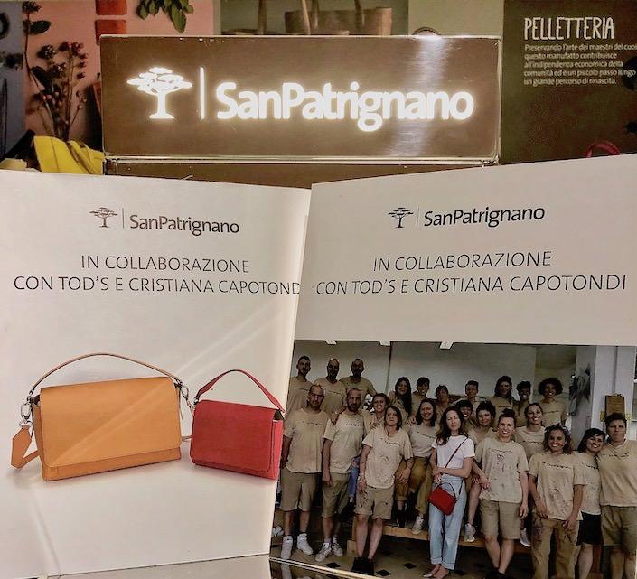 collaboration between San Patrignano and Tod's