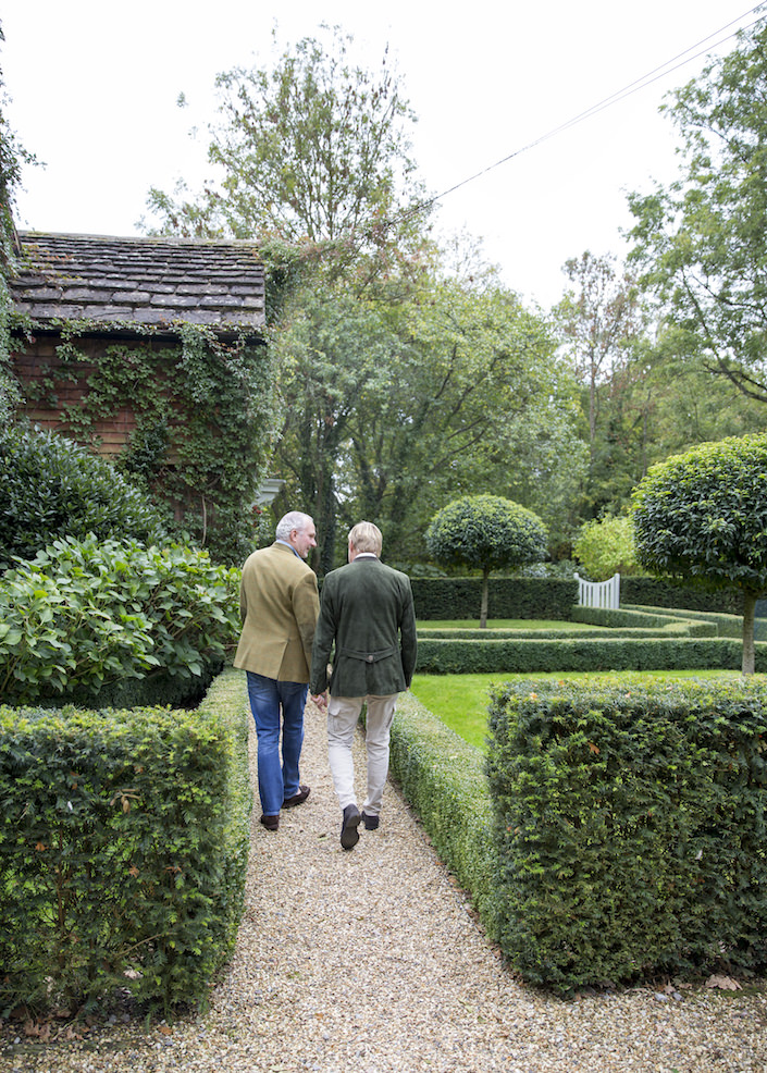 Paolo Moschino and Philip Vergeylen at their country house
