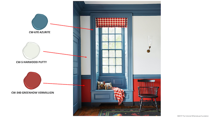The Williamsburg® Paint Color Collection by Benjamin Moore® in Anthony Baratta Colonial Williamsburg Palmer House