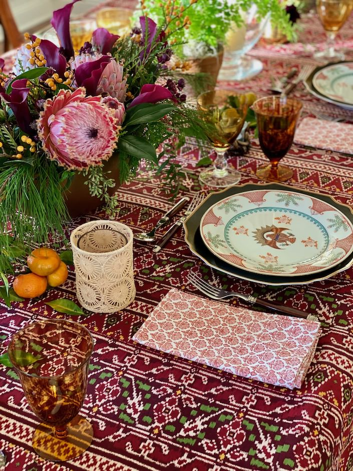 Christmas table via Quintessence