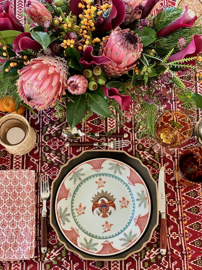 My Christmas table via Quintessence