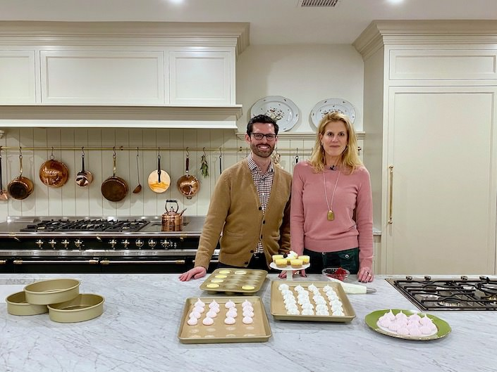 John Kanell of Preppy Kitchen and Susanna Salk via Quintessence