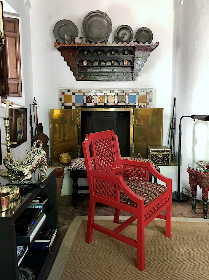 Charles Sevigny designed the chair at Dar Zero in Tangier via Quintessence