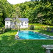 Susanna Salk Connecticut pool and barn