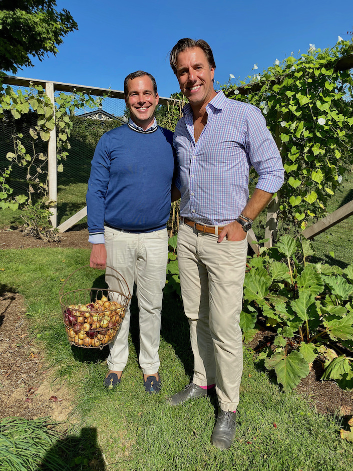 Christopher Spitzmiller and Anthony Bellomo at Cloe Brook Farm