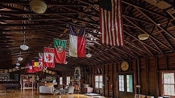 Flags at Camp Kent