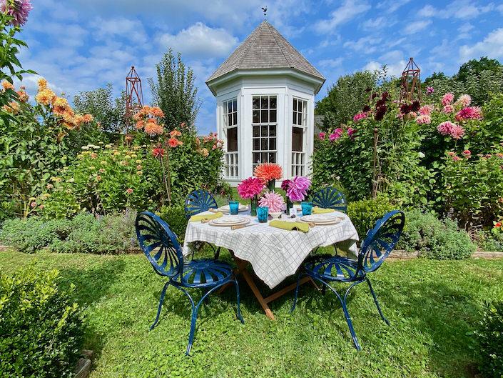 garden lunch at Clove Brook Farm