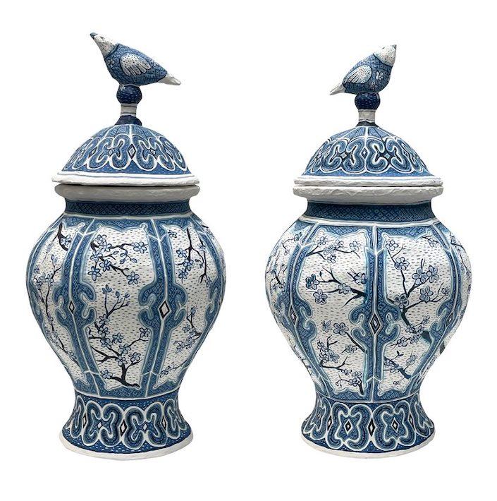 KRB Gagnon-Ginger-Jars-with-Bird-Lids