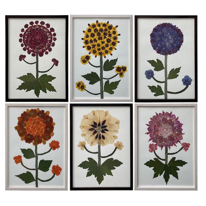 KRB Marian McEvoy sunflower collages