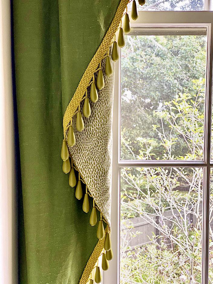 curtain details at Kate Rheinstein Brodsky Hamptons home-1