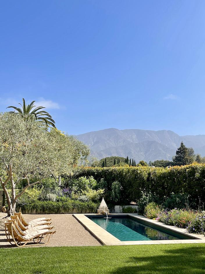 Suzanne Rheinstein pool in Montecito