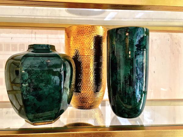 AERIN jade green vases