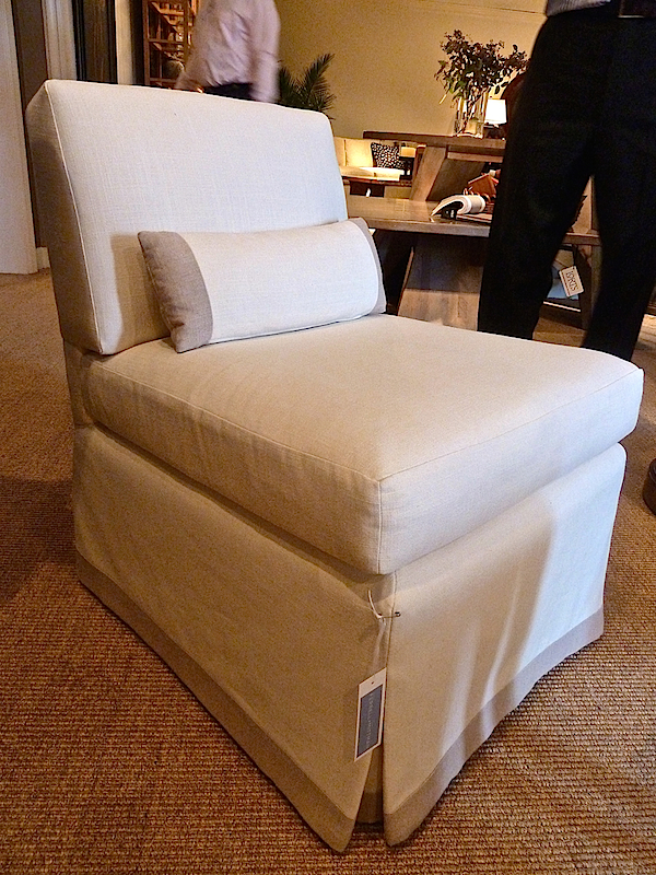 Edward Ferrell + Lewis Mittman Baldwin slipper chair