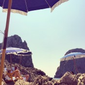 Beach club in Capri by Max Sinsteden