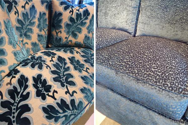 Blue fabrics at Wesley Hall