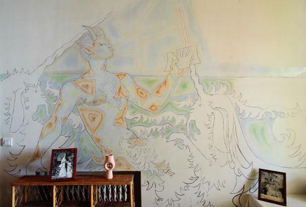 Cocteau frescos at Villa Santo Sospir