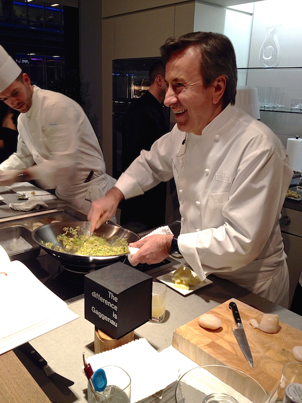 Daniel Boulud cooking at gaggenau